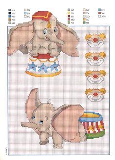 Dumbo al circo schema punto croce - magiedifilo.it punto croce uncinetto schemi gratis hobby creativi