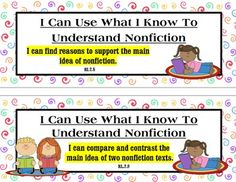 I Can Statements SECOND GRADE Common Core (also available for Kindergarten, First, Third and Fourth  Grade).