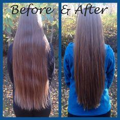 Long hair with long layers and a little V shaped.
