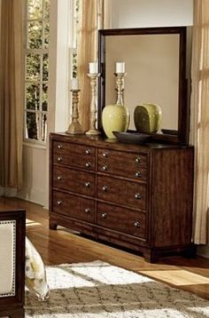bernal heights modern warm cherry wood glass dresser