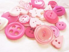 Pink buttons.