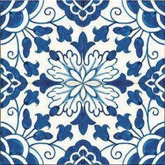 "Tamega-Shop - Patterned tiles 14x14 - - Tile, design ""Goa"", hand-painted, 14x14 cm"