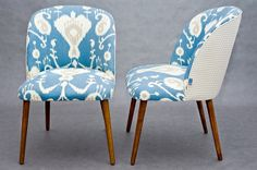 "Vintage chair ""Blue Ikat """