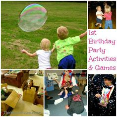Get a bubble maker and have fun!