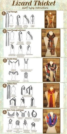 Other ways to tie a scarf
