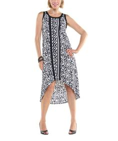 This Black & White Tribal Lindsey Dress by Joyous & Free is perfect! #zulilyfinds