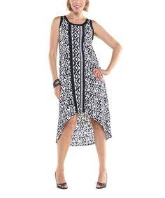 Look at this #zulilyfind! Black & White Tribal Lindsey Hi-Low Dress - Women by Joyous & Free #zulilyfinds