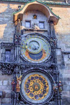 Prague Astronomical Clock - it's so beautiful. Loved Prague.