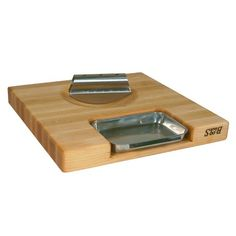 I pinned this Newton Cutting Board & Rocker Knife Set from the Chef Marcel Vigneron event at Joss and Main!
