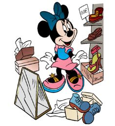 Minnie Mouse trying out some new shoes. Disney Cartoon Characters, Disney Cartoons, Cartoon Art, Mickey Minnie Mouse, Disney Mickey, Disney Art, Minnie Mouse Pictures, Disney Clipart, Mikey Mouse