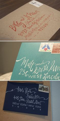 This is really great lettering for the invitations! Very time consuming. And I'm the diy type.