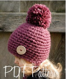 Crochet PATTERN-The Rylie Hat Toddler Child and by Thevelvetacorn