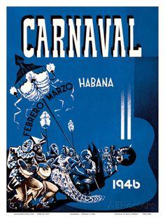 Carnaval de La Habana 1946 - Havana, Cuba - February March (Febrero Marzo) Taidevedos