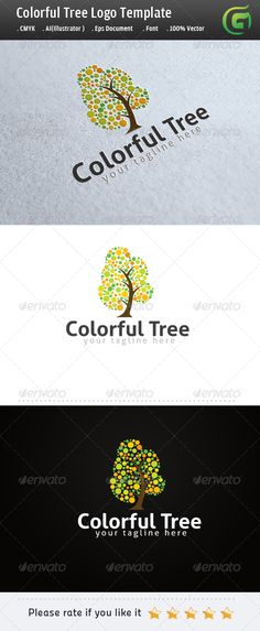 Logo for sale Colorful Tree