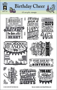 Birthday Cheer Stamp Set by Hot Off The Press Inc (4101137)