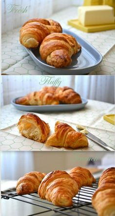 croissants  - don't know if or when I would ever have the time (or patience) to do these, but wouldn't they be wonderful!!