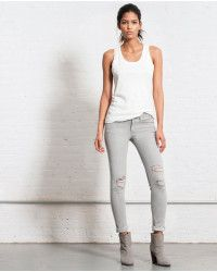 Rag & bone Skinny Surrey with Holes in Gray (surrey w hol) | Lyst