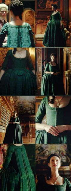 Outlander Costume Appreciation Post : Claire's Green Silk Dress