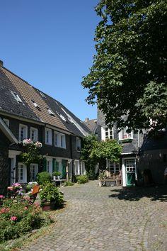 cute historic center of Solingen-Gräfrath Germany