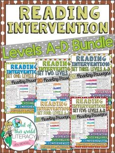 This Reading Intervention Program includes everything you need to teach, assess, and progress monitor students fluency, comprehension, word work, and vocabulary! It includes 100 passages, running record forms, bar graphs, line plots, and so much more! ($)