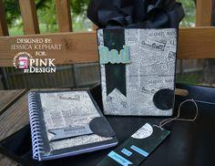 Fathers Day Gift Bag, Altered Journal and Bookmark Set Designer: Jessica Kephart www.homespunelegance.blogspot.com