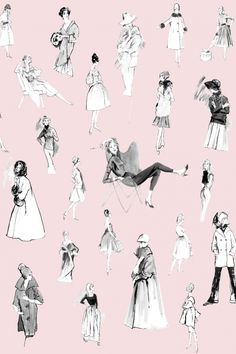 Tres Chic -- wallpaper designed by Hilda Glasgow