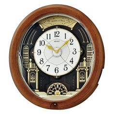Seiko Evening at the Ball Melodies in Motion Wall Clock - 16.5 in. Wide
