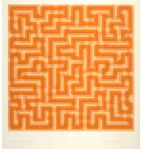 Anni Albers (American, 1899–1994).  Orange Meander, 1970. Color screenprint. Anderson Graphic Arts Collection, gift of the Harry W. and Mary Margaret Anderson Charitable Foundation. 1996.74.4