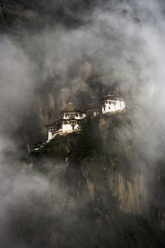 I believe this is the Eagle's Nest monastery in Bhutan - amazing.