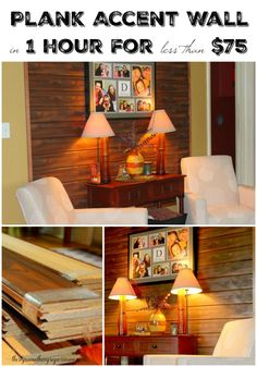 ... this DIY Wall Decor - Wood Accent Wall in 1 hour for so cheap