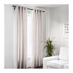 IKEA - MERETE, Rideaux, 1 paire, , Les rideaux épais permettent de plonger la pièce dans l'obscurité et de préserver l'intimité par rapport à l'extérieur.Les oeillets permettent de suspendre les rideaux directement sur une tringle.Protège efficacement des courants d'air l'hiver et de la chaleur excessive l'été.