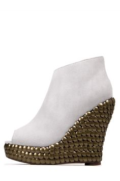Jeffrey Campbell Shoes TICK The Vault in White Suede Vaulting b2980dfec17