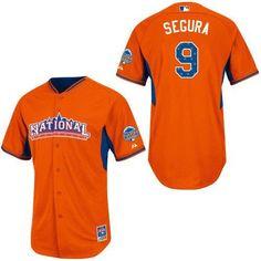 47054ab56 Majestic Domonic Brown Philadelphia Phillies 2013 MLB All-Star Game Player  Performance Jersey - Orange - Phillies Gear - Ultimate Phillies Fan Portal