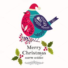 Collection of Christmas cards by MoleskoStudio on Creative Market