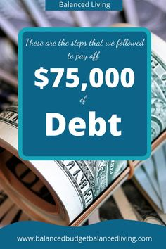 3 Simple Steps to Pay off Debt - Balanced Living Money Talks, Get Out Of Debt, Frugal Living Tips, Managing Your Money, Financial Tips, Debt Payoff, Budgeting Tips, Money Saving Tips, Personal Finance