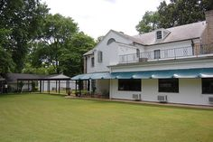 Elvis Presley's Backyard at the Graceland Mansion in Memphis, Tennessee