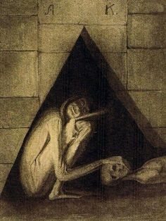 Alfred Kubin,Austrian printmaker, illustrator, and occasional writer. Kubin is considered an important representative of Symbolism and Expressionism Horror Drawing, Horror Art, American Figurative Expressionism, Tumblr, Alfred Kubin, Art Informel, Vintage Illustration Art, Dark Drawings, Contemporary African Art