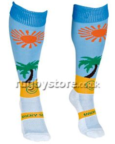 Life's a Beach WackySox Socks. All WackySox are made from Coolmax and Polyamide. Coolmax is the original moisture management fabric featuring advanced wicking technology to keep feet dry and cool. Rugby Kit, Cool Socks, Beach, Fabric, Fun, Life, Collection, Tejido, Fin Fun
