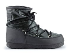 Śniegowce moon boot low glitter nero