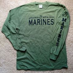 "Marine Corps PT Long Sleeve T-Shirt ""Marines"" EGA USMC Tee (:Tap The LINK NOW:) We provide the best essential unique equipment and gear for active duty American patriotic military branches, well strategic selected.We love tactical American gear Military Girlfriend Marine, Marine Girlfriend Quotes, Marine Sister, My Marine, Usmc Quotes, Navy Girlfriend, Girlfriend Tattoos, Military Quotes, Army Mom"
