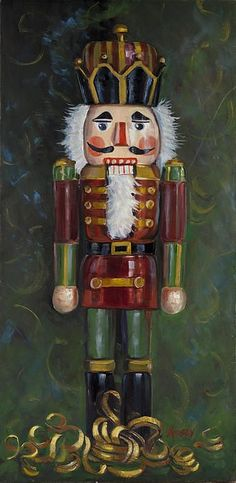 Nutcracker by Sheila Kinsey - Nutcracker Painting - Nutcracker Fine Art Prints and Posters for Sale Nutcracker Christmas, Noel Christmas, Vintage Christmas, Christmas Crafts, Christmas Decorations, Christmas Ornaments, Nutcracker Decor, Xmas, Nutcracker Soldier