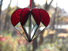 Stained Glass Suncatcher Heart Red by ChapmanStainedGlass on Etsy https://www.etsy.com/listing/210264809/stained-glass-suncatcher-heart-red