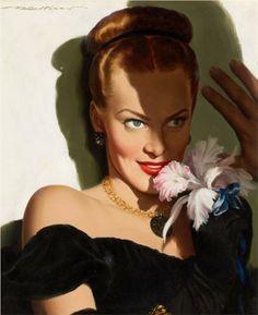 Girl with an Orchid - Robert G. Harris
