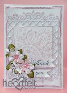 Heartfelt Creations | Pink Paisley Thank You