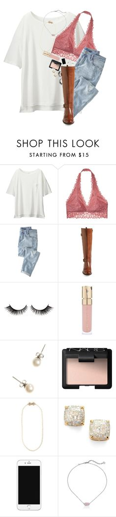 """Got new nikes today! "" by erinlmarkel ❤ liked on Polyvore featuring Uniqlo, Victoria's Secret, Wrap, Naturalizer, Smith & Cult, J.Crew, NARS Cosmetics, Miriam Haskell, Kate Spade and Kendra Scott"