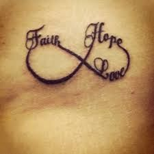 What does faith hope love tattoo mean? We have faith hope love tattoo ideas, designs, symbolism and we explain the meaning behind the tattoo. Faith Tattoo Designs, Tattoo Designs And Meanings, Tattoos With Meaning, Love Wrist Tattoo, Love Symbol Tattoos, 13 Tattoos, Faith Tattoos, Bird Tattoos, Wrist Tattoos
