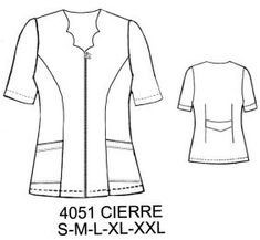 Delantales Paola Diaz, Corporate Uniforms, Medical Scrubs, Teacher Style, Couture, Camisole, Plus Size, Sewing, Lady