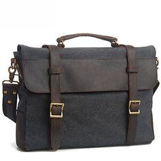 EcoCity Cotton Canvas Genuine Leather Cross Body Laptop Messenger Business Shoulder Handbag (Grey) EcoCity http://www.amazon.com/dp/B00GZ044A6/ref=cm_sw_r_pi_dp_GLK4ub000HA1Z