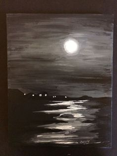 Moonshine - Acrylic painting on canvas - By Chrissy