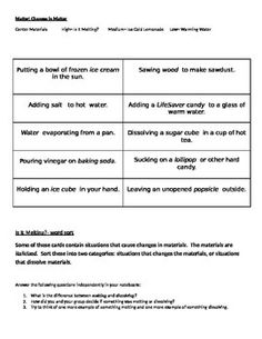 physical chemical change work sheet with answers matter pinterest chemical change. Black Bedroom Furniture Sets. Home Design Ideas